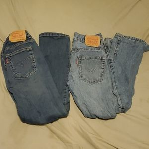 2 pairs Boy's Levi's size 10 in 10 is 10 slim